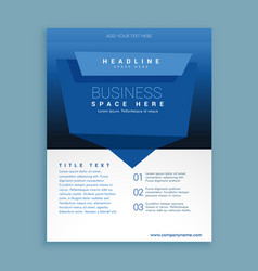 Business flyer brochure poster presentation vector