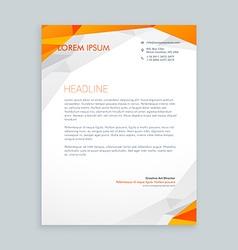 Business style letterhead design vector
