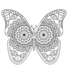 Butterfly for coloring book antistre vector