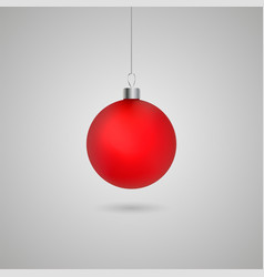 christmas ball with shadow vector image