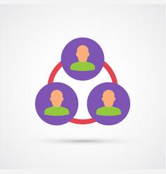 colored team trendy symbol vector image