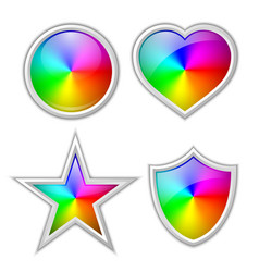 colorful gradient icons or badges made rainbow vector image