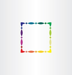 colorful square frame border element design vector image