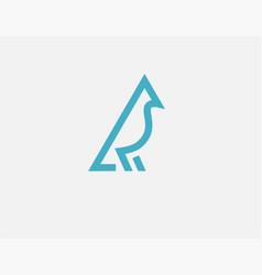 creative blue linear logo icon bird for your vector image