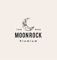 crescent moon rock hipster vintage logo icon vector image