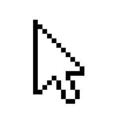 Cursor mouse icon pixel pointer arrow vector