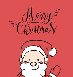 cute santa claus christmas greeting card vector image