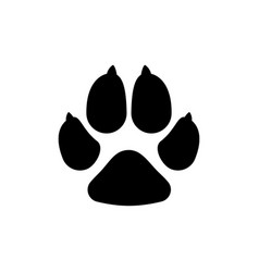 dogs paw dog footprint flat icon vector image