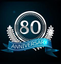 eighty years anniversary celebration design vector image