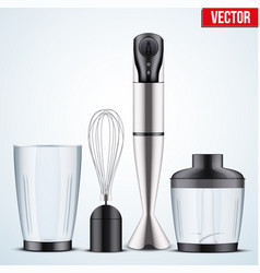 Electrical immersion hand blender vector