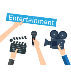 entertaining shows programs and films vector image