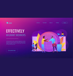 Expat work concept landing page vector