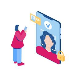 Face recognition concept vector