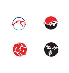fish koi logo and symbol animal vector image