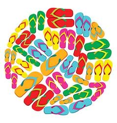 Flip flops circle vector image