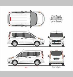 Ford transit connect swb passenger van 2018 vector