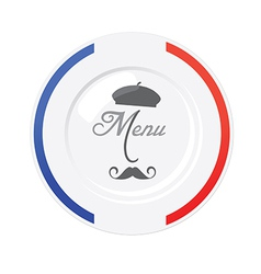 Funny french restaurant menu design template vector
