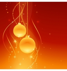 golden baubles on festive background vector image