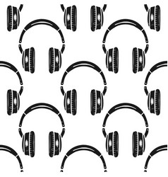 headphones seamless pattern music symbol vector image