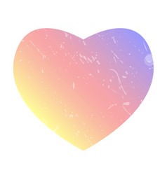 heart like colorful gradient color insta gram vector image