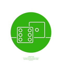Icon dice cubes vector