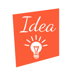 idea banner with lighting lamp vector image