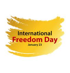 International freedom day template design vector