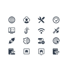 Internet and provider icons vector