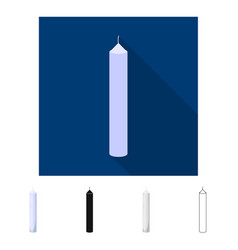Isolated object candle and tall logo vector