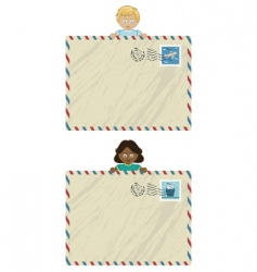 Kids airmail vector