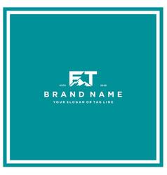 Letter ft mountain logo design vector