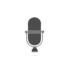 microphone black flat design icon vector image