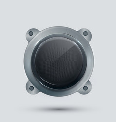 modern speaker on gray background vector image vector image
