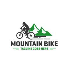 Mountain bike sports logo vector