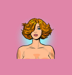 nude woman portrait large vector image