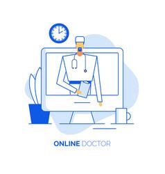 online healthcare concept doctor surgeon vector image