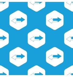 Opposite arrows hexagon pattern vector