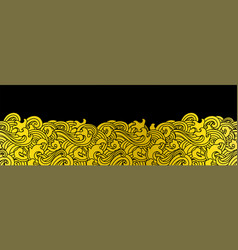 Oriental ocean wave seamless background vector