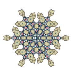 Ottoman floral pattern motif vector