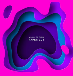 Paper cut abstract background with paper cut vector