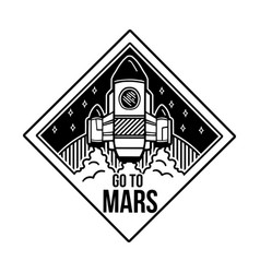 Patch go to mars with space ship vector