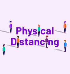 Physical distancing banner concept vector