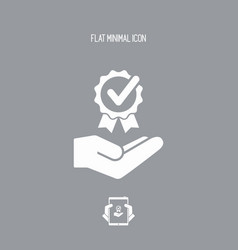 Premium services - flat icon vector