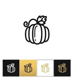 Pumpkin for thanksgiving or gourd icon vector