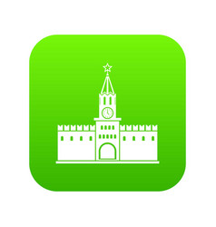 russian kremlin icon digital green vector image