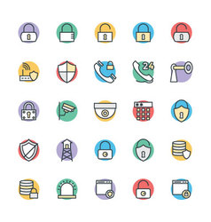Security Cool Icons 1 vector image