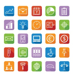 Set of colored icons a business and office vector