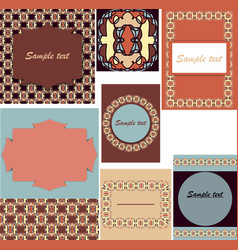 set of templates for cardsweddingbirthday vector image