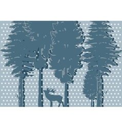 Silhouette of deer vector