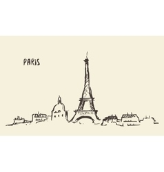 Sketch Eiffel Tower Paris vector image